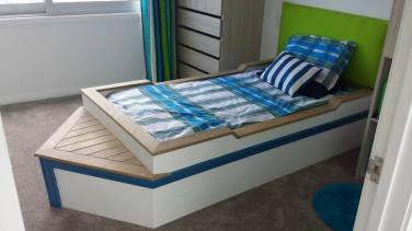 Boat bed made by Martin