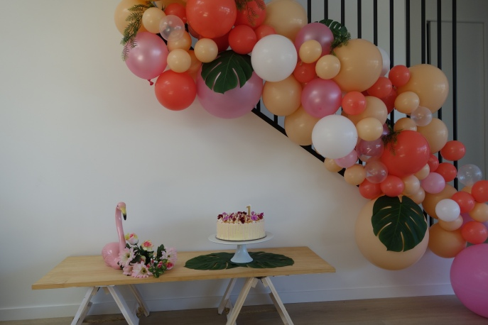 Cute little Flamingo set up we created