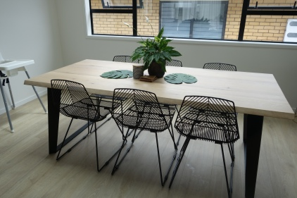 Dining table from Nood. Chairs from Cintesi